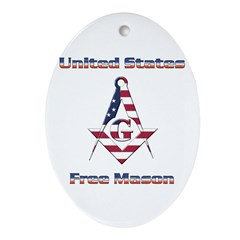 U.S. Mason Oval Ornament