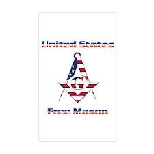 U.S. Mason Rectangle Sticker