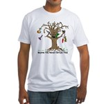 Rocket eating tree Fitted T-Shirt