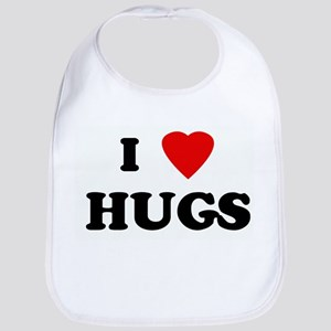 I Love HUGS Bib