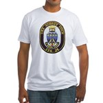 USS AUBREY FITCH Fitted T-Shirt