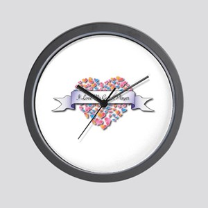Love My Guitar Player Wall Clock