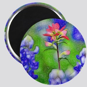 Bluebonnets and Indian Paintbrush Magnets