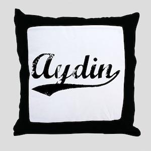 Vintage Aydin (Black) Throw Pillow