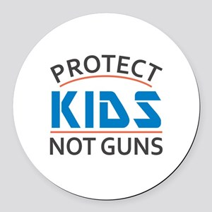 Protect Kids Not Guns Gun Control Round Car Magnet