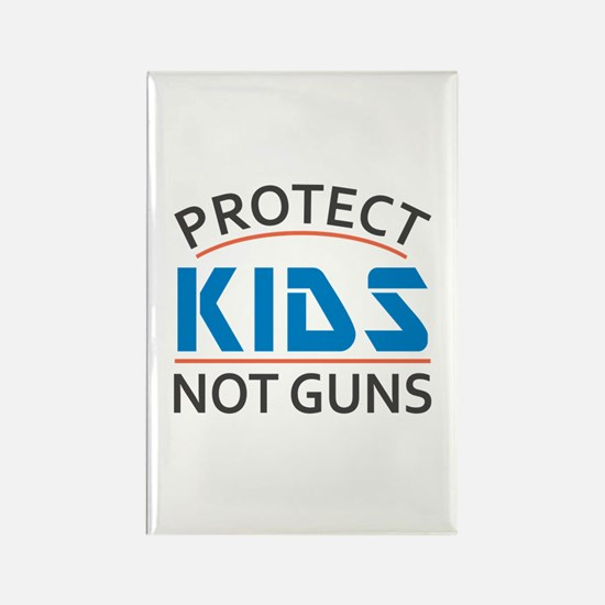Protect Kids Not Guns Gun Control Rectangle Magnet