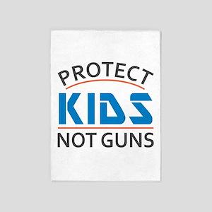 Protect Kids Not Guns Gun Control 5'x7'Area Rug