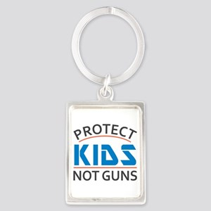 Protect Kids Not Guns Gun Contro Portrait Keychain