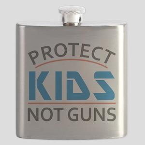Protect Kids Not Guns Gun Control Flask