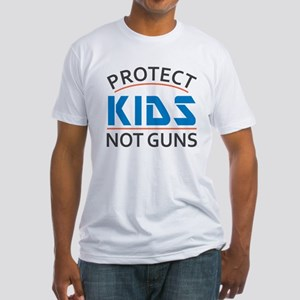 Protect Kids Not Guns Gun Control Fitted T-Shirt