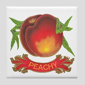 Peachy White Tile Coaster