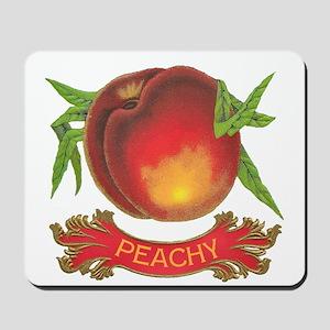 Peachy White Mousepad