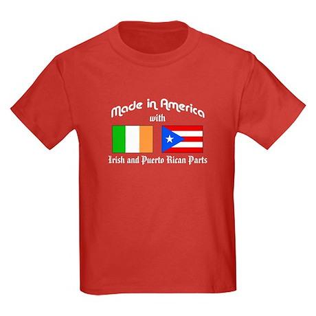 Irish-Puerto Rican Kids Dark T-Shirt
