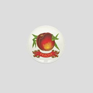 Peachy white Mini Button