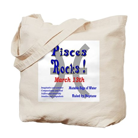 Pisces March 13th Tote Bag