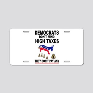 DUMMYCRATS Aluminum License Plate