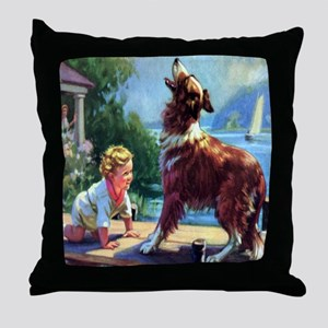 Protector Collie  Throw Pillow