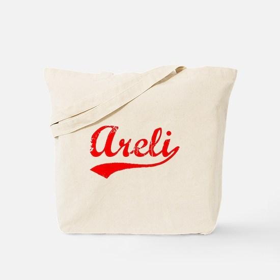 Vintage Areli (Red) Tote Bag
