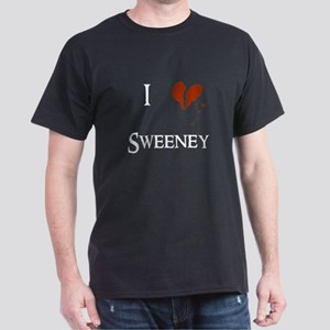 I heart Sweeney (Dark) Dark T-Shirt
