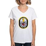 USS CARR Women's V-Neck T-Shirt