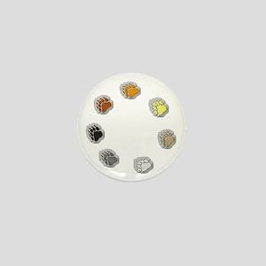 BEAR PRIDE BEAR PAWS/CIRCLE Mini Button