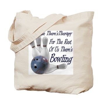 Bowling Therapy Tote Bag