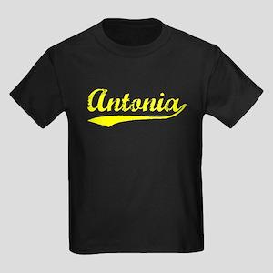 Vintage Antonia (Gold) Kids Dark T-Shirt