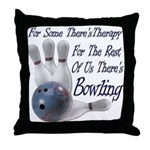 Bowling Therapy Throw Pillow