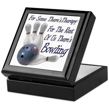 Bowling Therapy Keepsake Box