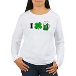 Funny St Particks Day I Love Women's Long Sleeve T