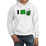 Funny St Particks Day I Love Hooded Sweatshirt