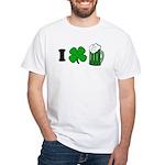 Funny St Particks Day I Love White T-Shirt