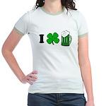 Funny St Particks Day I Love Jr. Ringer T-Shirt