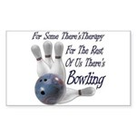 Bowling Therapy Rectangular Sticker