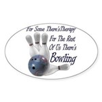 Bowling Therapy Oval Sticker