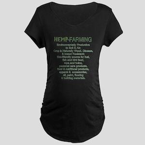 PRO-HEMP Farming Maternity Dark T-Shirt