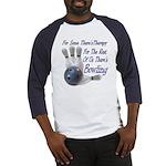 Bowling Therapy Baseball Jersey