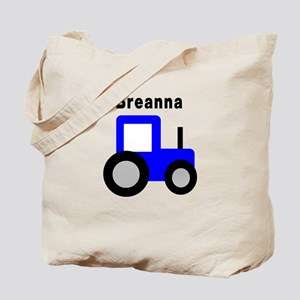 Breanna - Blue Tractor Tote Bag