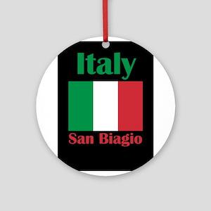 San Biagio Italy Round Ornament