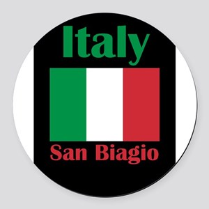 San Biagio Italy Round Car Magnet
