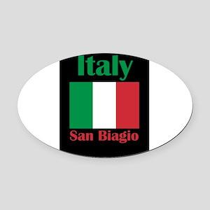 San Biagio Italy Oval Car Magnet