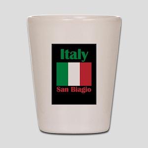 San Biagio Italy Shot Glass