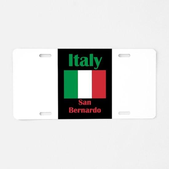 San Bernardo Italy Aluminum License Plate