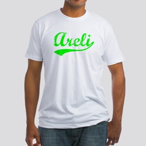 Vintage Areli (Green) Fitted T-Shirt