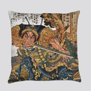 japanese martial arts samurai Everyday Pillow