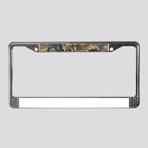 japanese martial arts samurai License Plate Frame