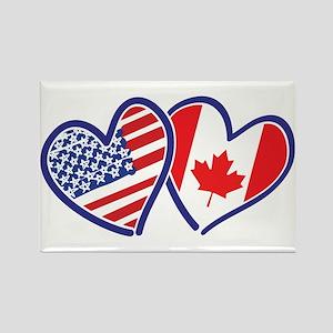Canada USA Love Hearts Magnets