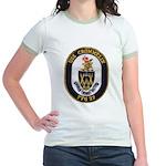 USS CROMMELIN Jr. Ringer T-Shirt