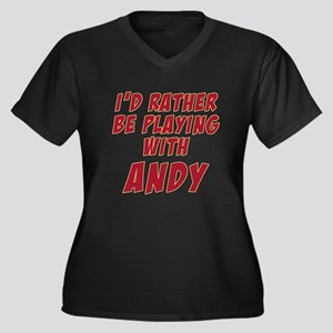 Andy Roddick Women's Plus Size V-Neck Dark T-Shirt