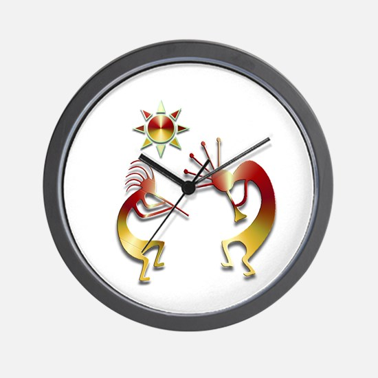 Two Kokopelli #107 Wall Clock